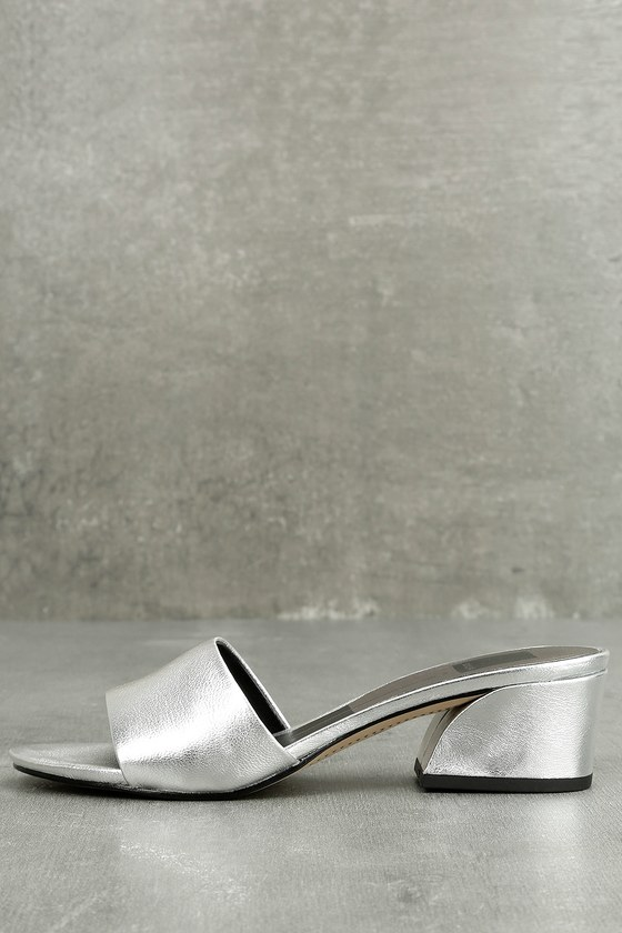 Dolce Vita Rilee Silver Mules 1