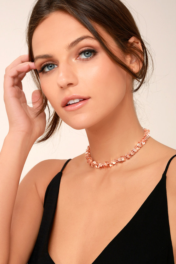 Sun Signs Rose Gold Choker Necklace 2