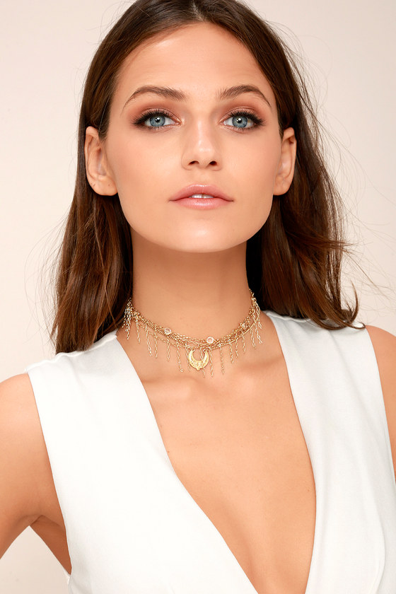 Horoscope Gold Layered Choker Necklace 4