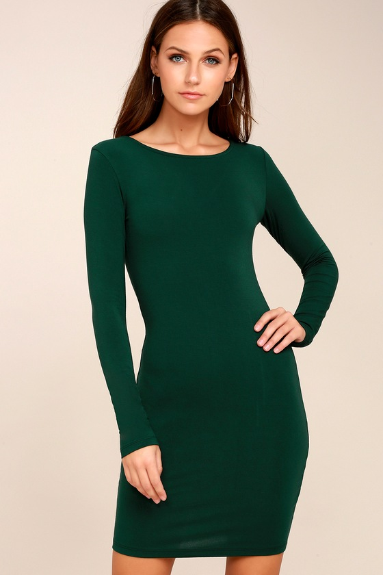 Comeback Baby Forest Green Dress 1