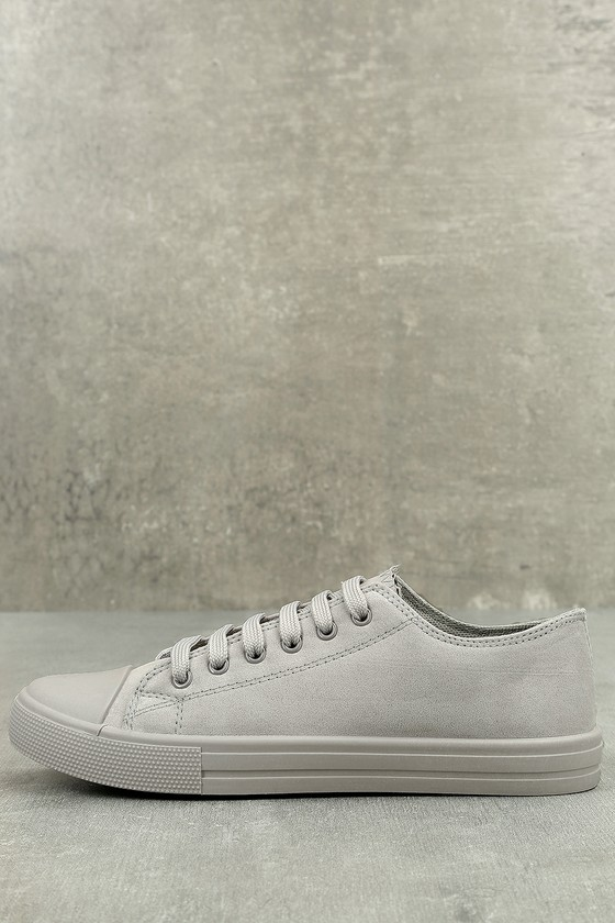 Tabitha Light Grey Suede Sneakers 1