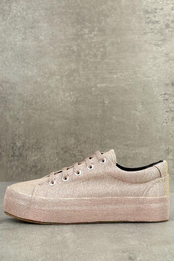 Payton Rose Gold Glitter Sneakers 1
