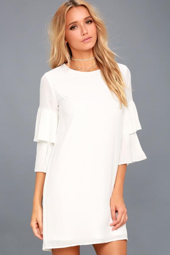 Move and Shake White Shift Dress 1