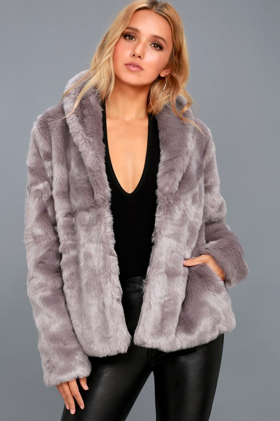 Fauxreals Dusty Purple Faux Fur Coat 2