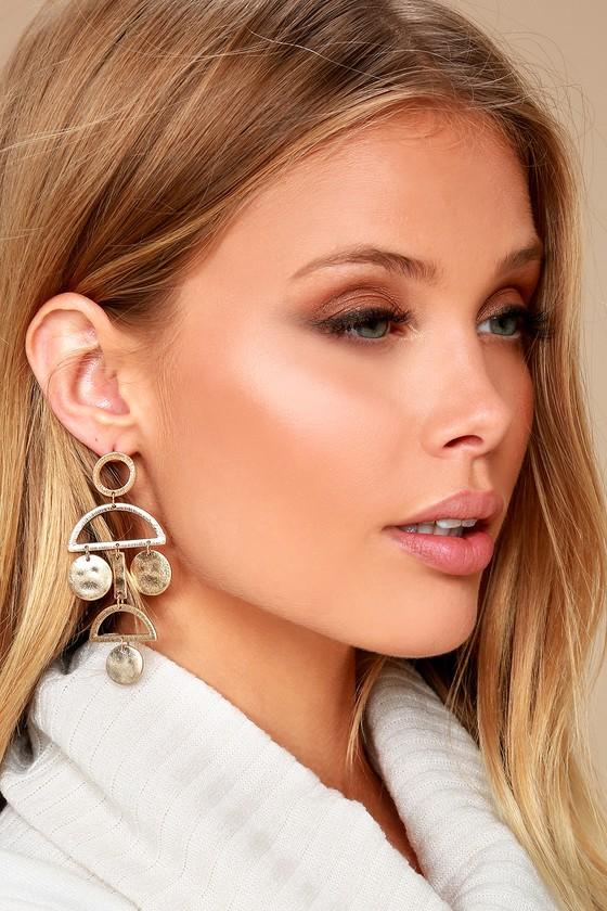 Cam Gold Drop Earrings 1