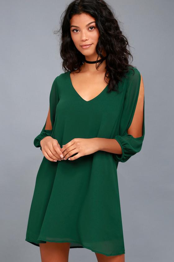 Shifting Dears Forest Green Long Sleeve Dress 3