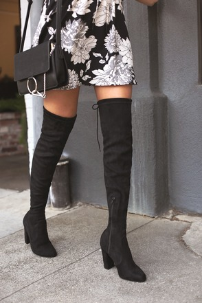 Details about  /Womens Faux Suede Over Knee High Boots Long Pull On Shoes Plus Size #7-23