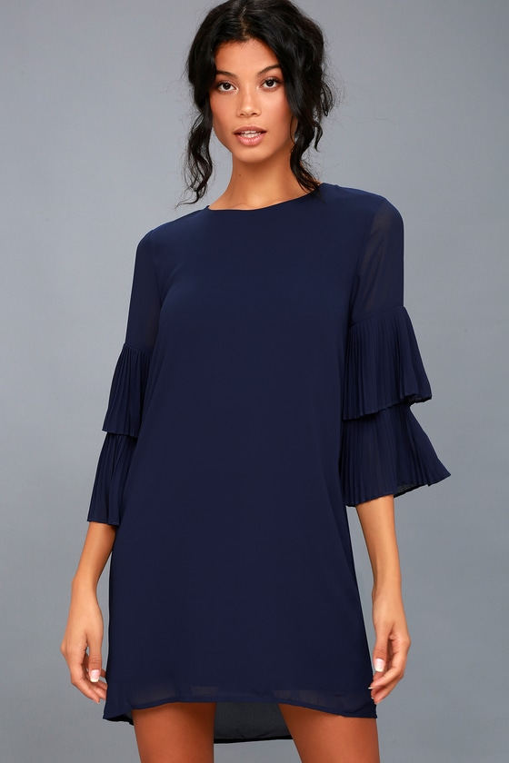 Move and Shake Navy Blue Shift Dress 2