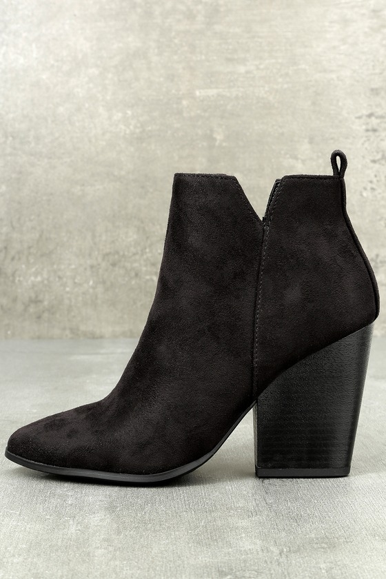 52356dfdc87 Marissa Black Suede Ankle Booties