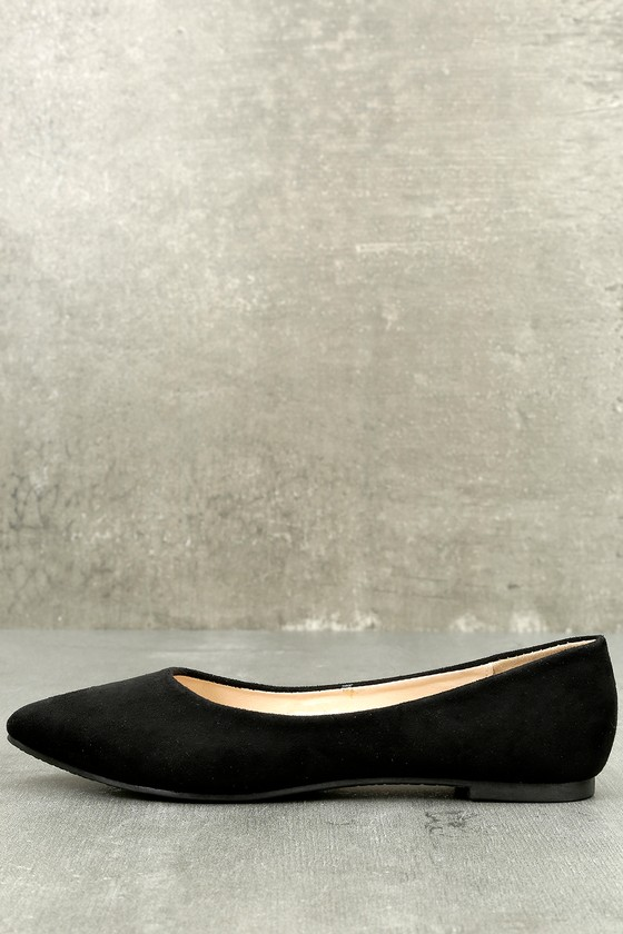 Holly Black Suede Flats 1