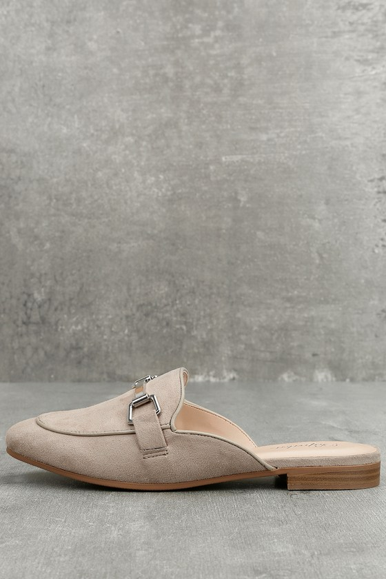 Eliza Clay Suede Loafer Slides 3
