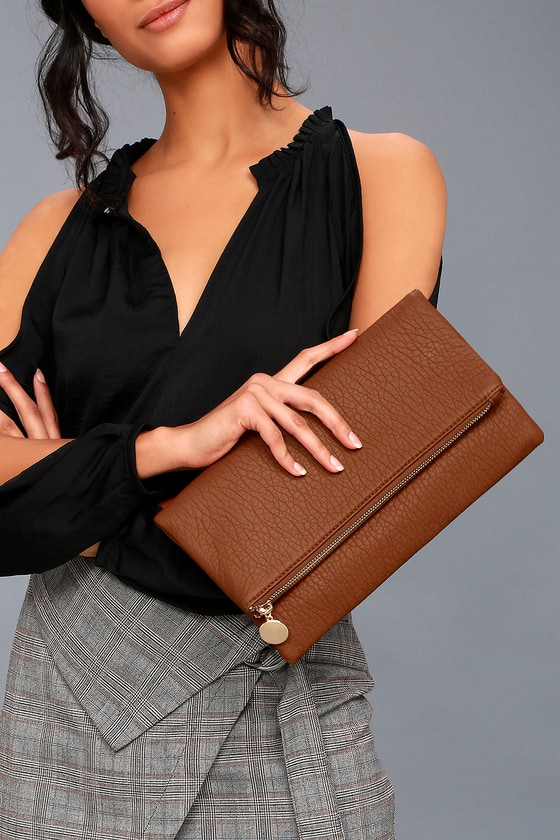 Get Up and Go Tan Clutch 1