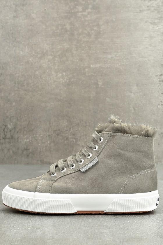 Superga 2795 Shearling - Grey Sneakers