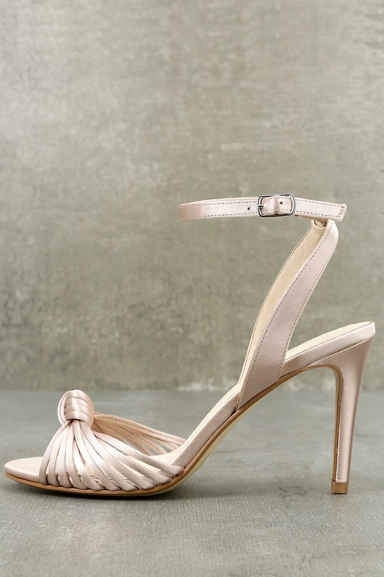 Selina Nude Satin Dress Sandals 1
