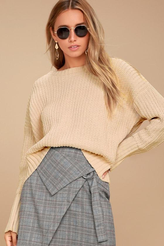 Bear Hug Ivory Knit Sweater 1