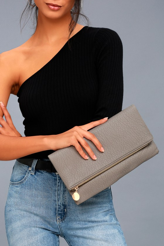 Get Up and Go Grey Clutch 1
