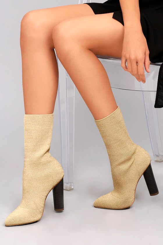 Chic Stretch Knit Boots - Mid Calf Boots - Sock Booties c945d0c4e