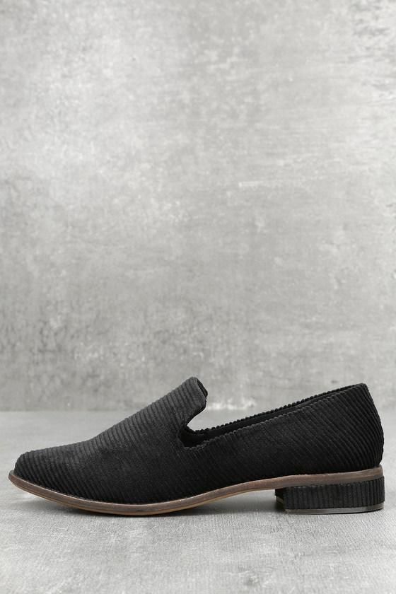Arbor Black Corduroy Loafers 2