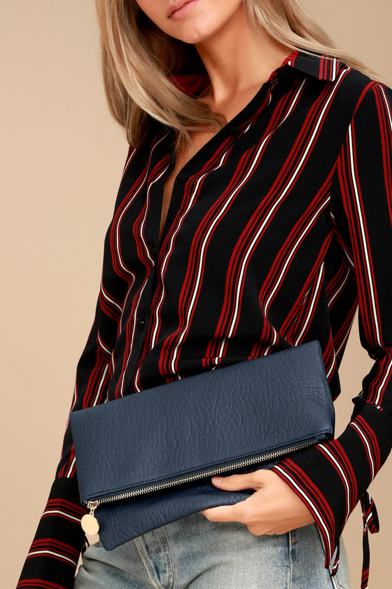 Get Up and Go Navy Blue Clutch 1