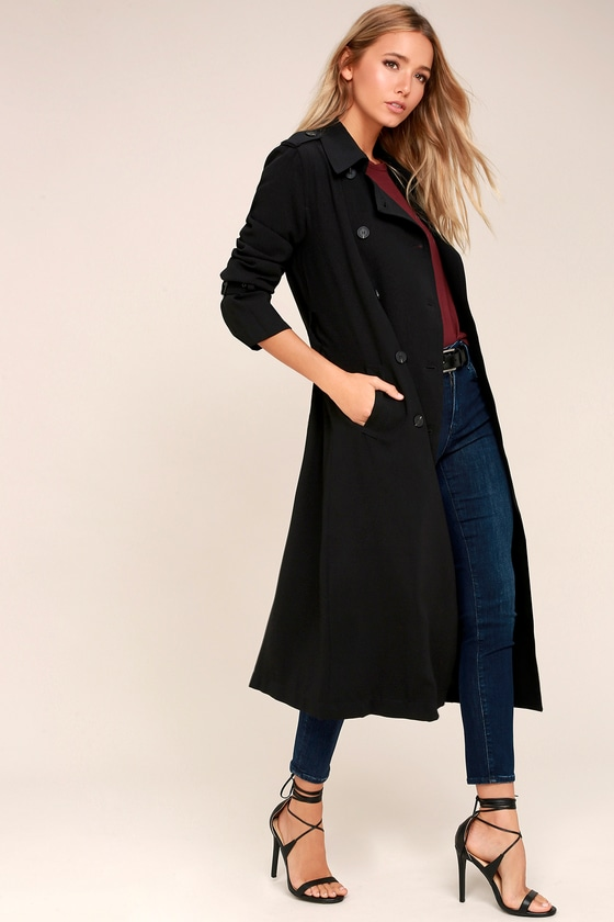 Alias Black Maxi Trench Coat 2