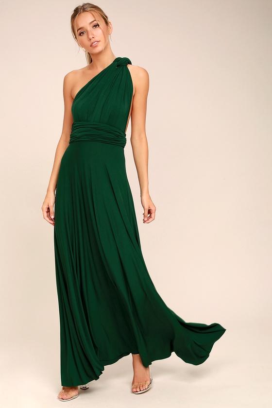Awesome Forest Green Dress - Maxi Dress - Wrap Dress - Lulus