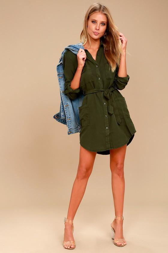 Olive Green Dress Shirt Womens Photo Dress Wallpaper Hd Aorg