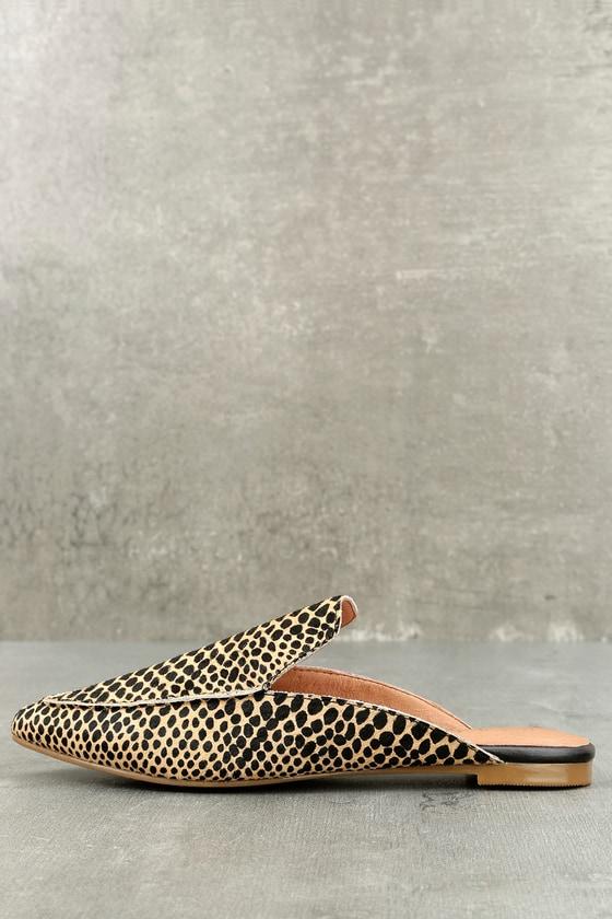 Lizzy Cheetah Print Pony Fur Loafer Slides 2