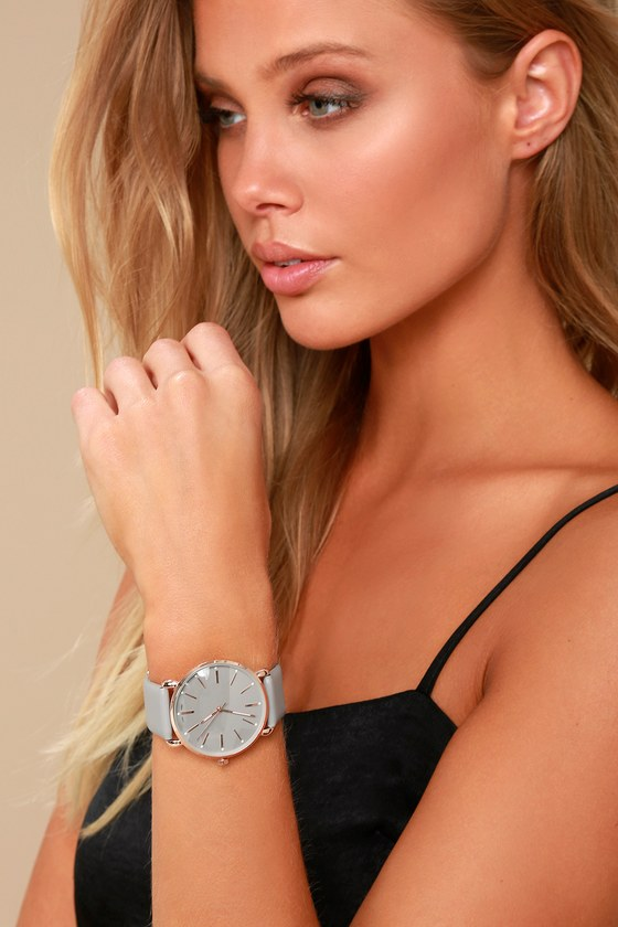 Watch the Clock Rose Gold and Grey Watch 5