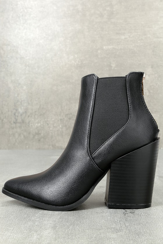 e85b6ea0b4f4 Chic Black Booties - Pointed Toe Ankle Booties - Ankle Boots