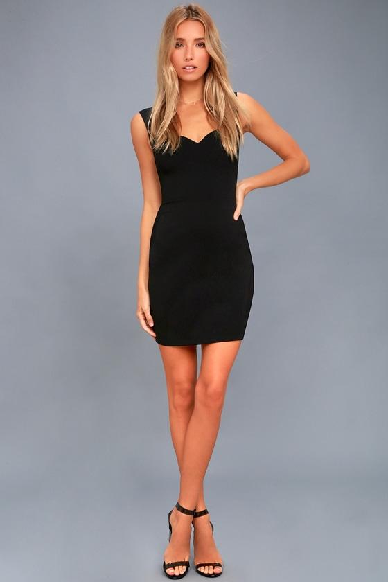 Sexy Asymetrical Dress Black Bodycon Dress
