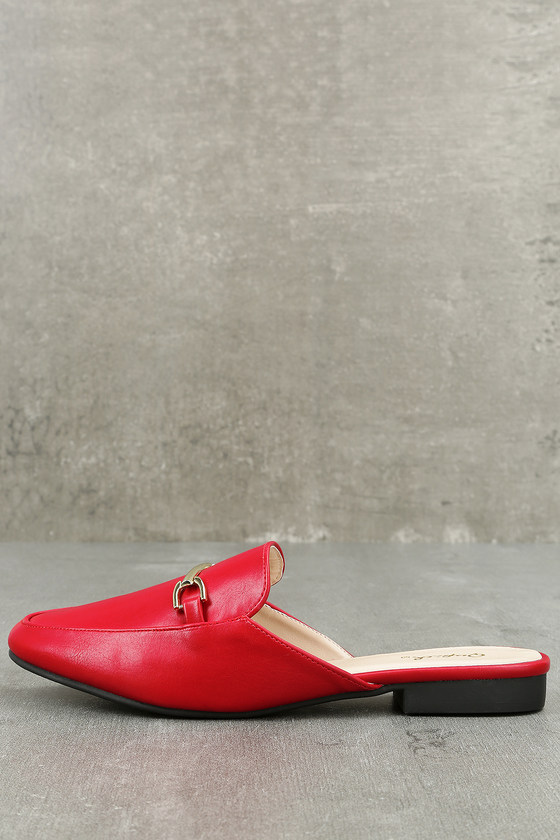 Pippin Red Loafer Slides 2