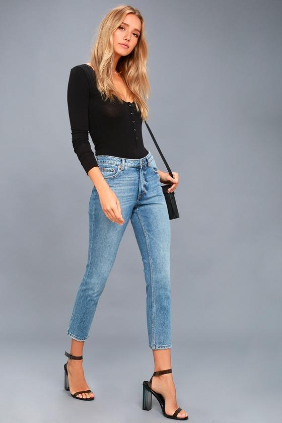 60b93c94397bc9 Cheap Monday Revive Medium Wash Straight Leg Jeans