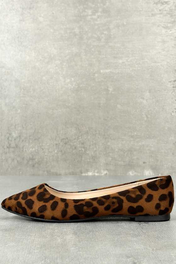 Holly Leopard Print Flats 1