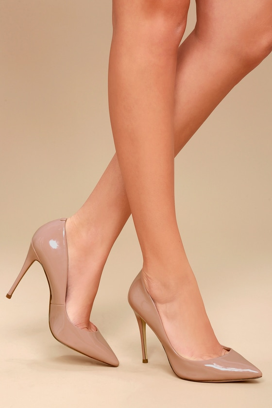 Dark Blush Pumps - Classic graduation shoes