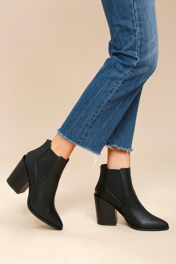 Lulus Bartlett Peep-Toe Ankle Booties - Lulus S8sZK7Bas