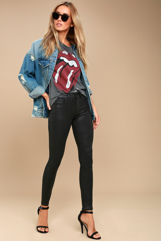 Hoxton Black Vegan Leather Pants 1