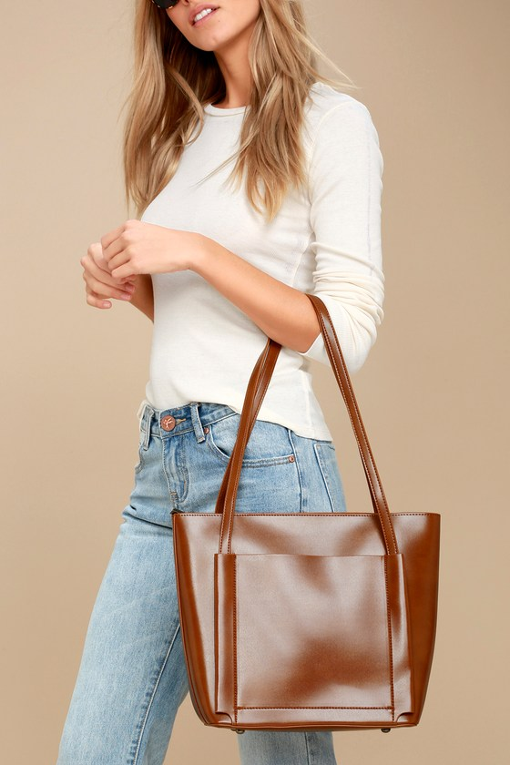 Lulus - Business Idea Brown Tote - Vegan Friendly