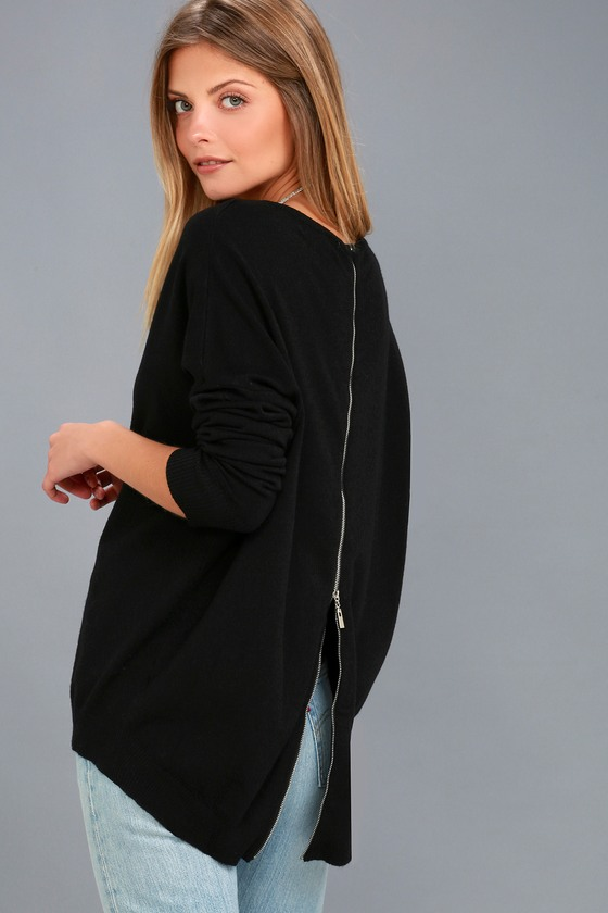 Laid Back Black Sweater Top 3
