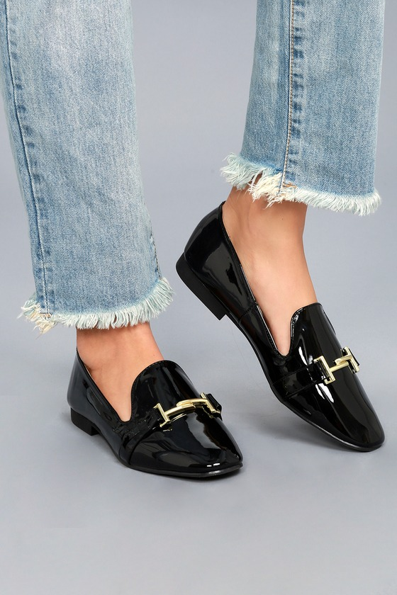 Klynn Black Patent Loafers 1