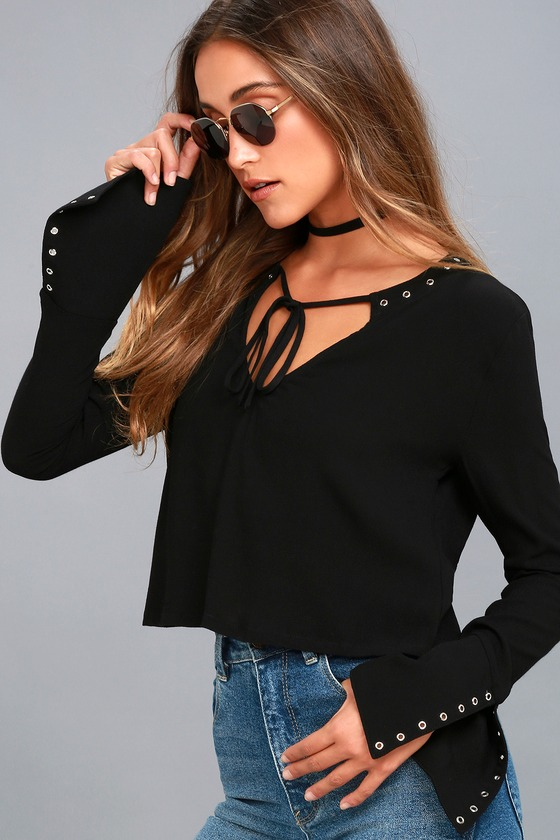Lucky Ones Black Long Sleeve Top 6