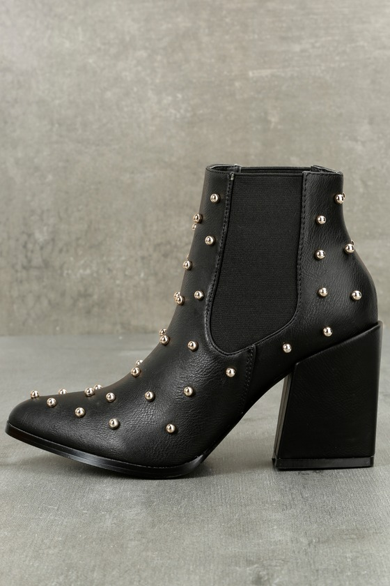 Kestrel Black Studded Ankle Booties 2