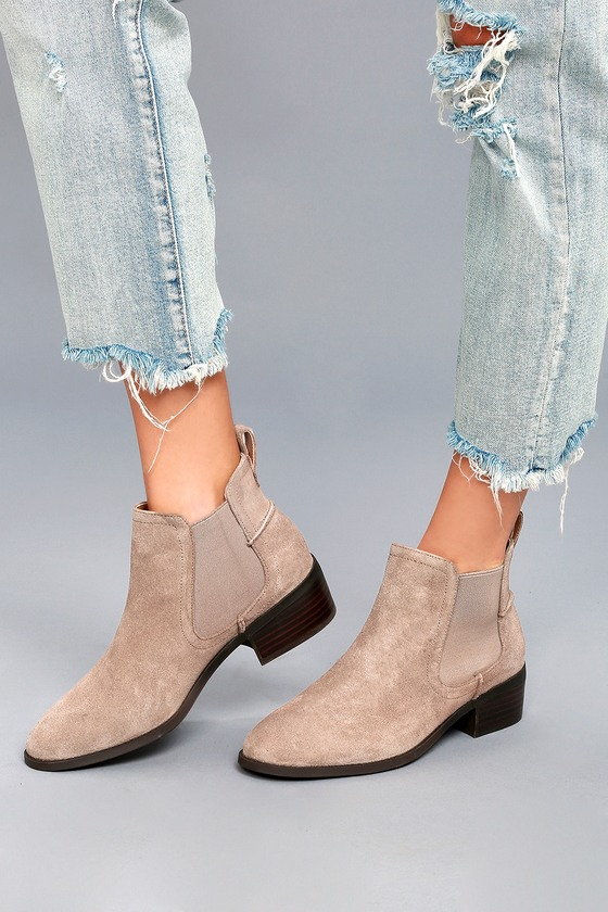f360d4eab67 Steve Madden Dicey Bootie - Taupe Suede Leather Booties