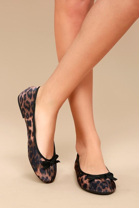 Anya Leopard Print Velvet Flats 5