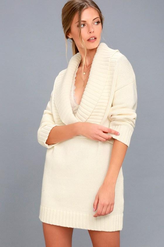 Infinite Skies Cream Sweater Dress 4