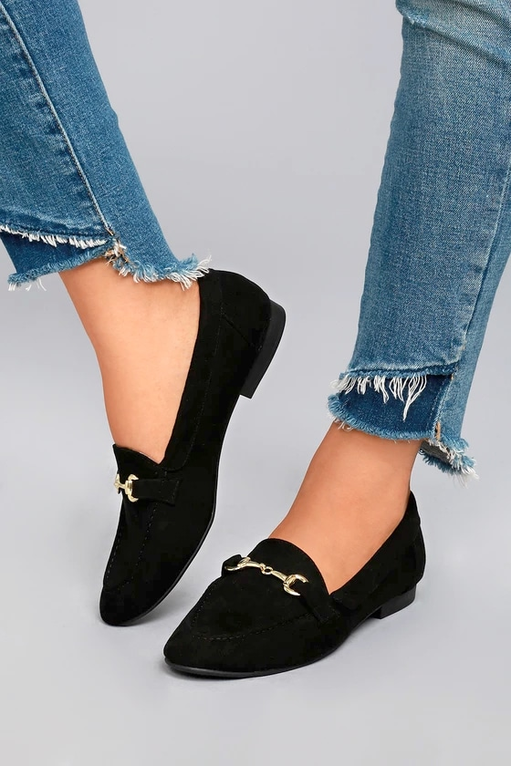 Molly Lynn Black Suede Loafers 4