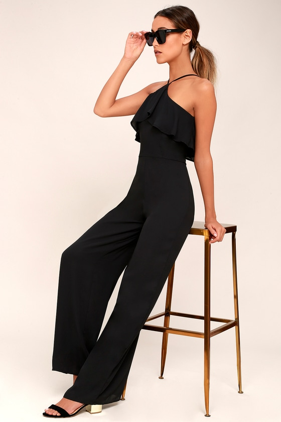 Stars Come Out Black Wide-Leg Jumpsuit 1