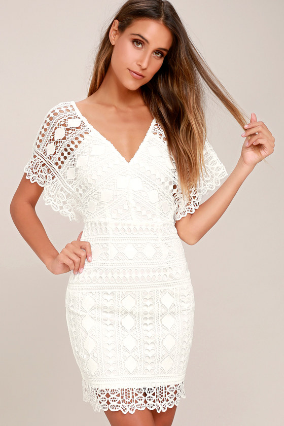 First Kiss White Lace Dress 1
