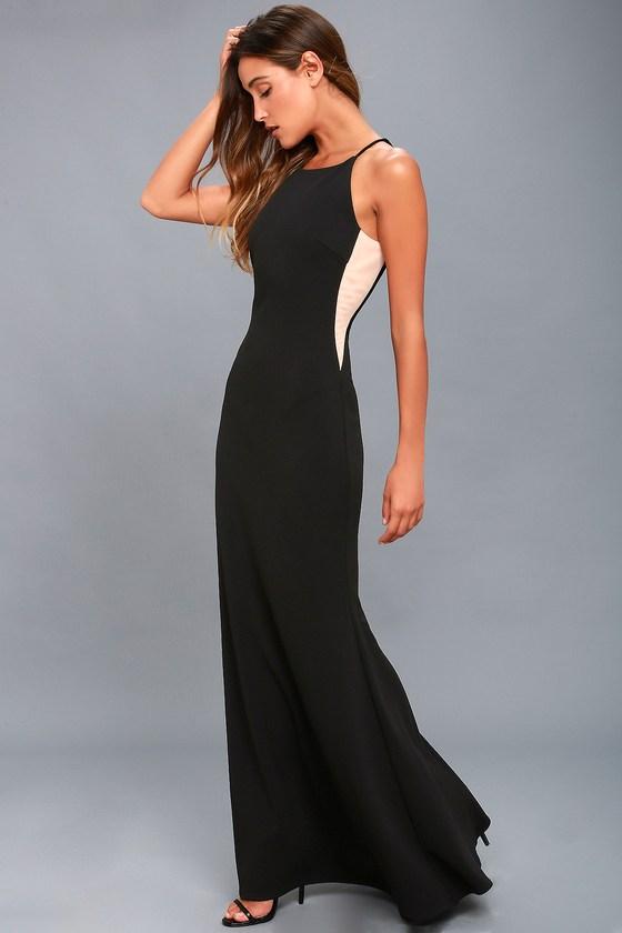 Romanticism Black Maxi Dress 3