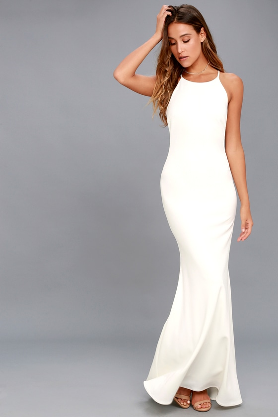 9f66b8510ab3a Totally Bangin Mesh Maxi Dress White - Dress Foto and Picture