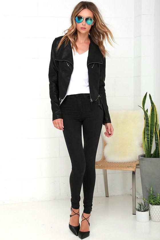 1d4d00dabe Vegan Leather Jacket - Black Jacket - Moto Jacket
